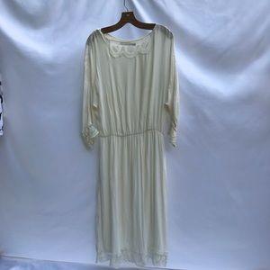 Zara GORGEOUS white slip dress.